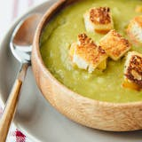 Vegetariánský Split Pea Soup and Grilled Cheese Croutons